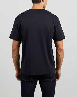 Lacoste - EXCLUSIVE  Jersey T Shirt - T-Shirts & Singlets (Abysm) EXCLUSIVE -Jersey T-Shirt