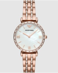 Emporio Armani - Rose Gold-Tone Analogue Watch
