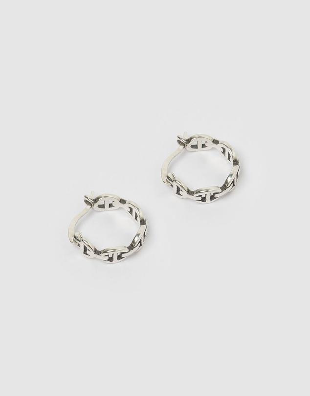Women Dymo Mini Hoop Earrings Silver