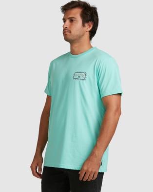 Billabong - Adiv Arch Wave Tee - T-Shirts & Singlets (LIGHT AQUA) Adiv Arch Wave Tee