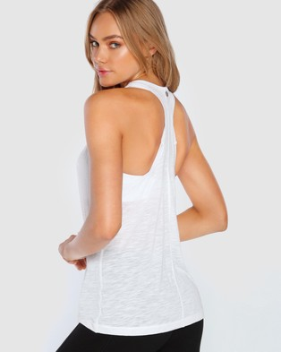 Lorna Jane - Slouchy Gym Tank - Muscle Tops (White) Slouchy Gym Tank
