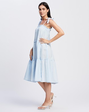 REVERSE Three Tier Dress - Dresses (Baby Blue)