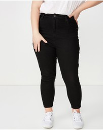 Cotton On Curve - Curve Adriana High Skinny Jeans