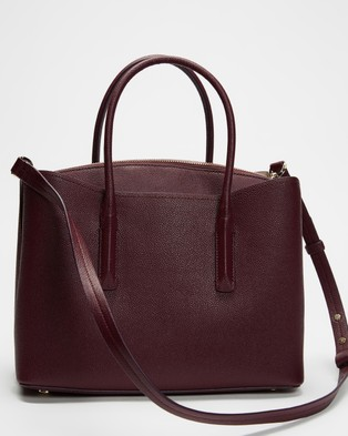 Kate Spade Margaux Large Satchel - Handbags (Deep Cherry)