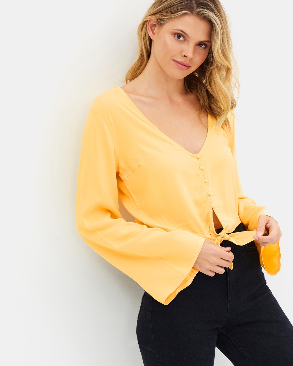 All About Eve Isabella Top Cropped tops Yellow Isabella Top