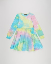 Rock Your Kid - Long Sleeve Waisted Dress - Kids