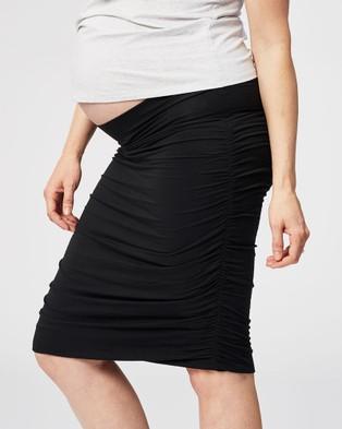 Cake Maternity Tiramisu Maternity Skirt - Pencil skirts (Black)