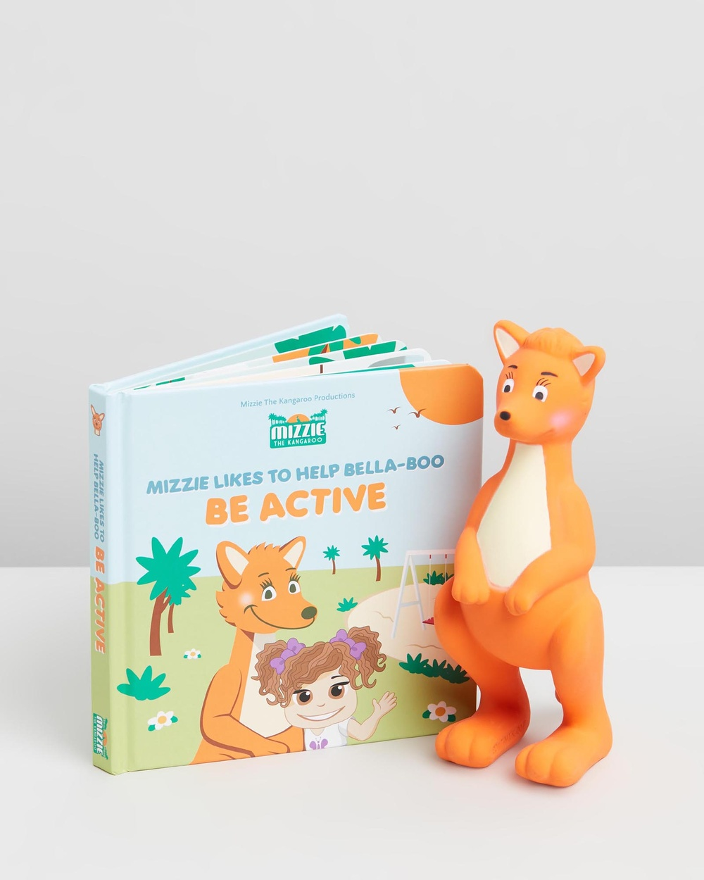 Mizzie The Kangaroo Baby Board Book Gift Set with Teething Toy All toys Be Active All toys Australia