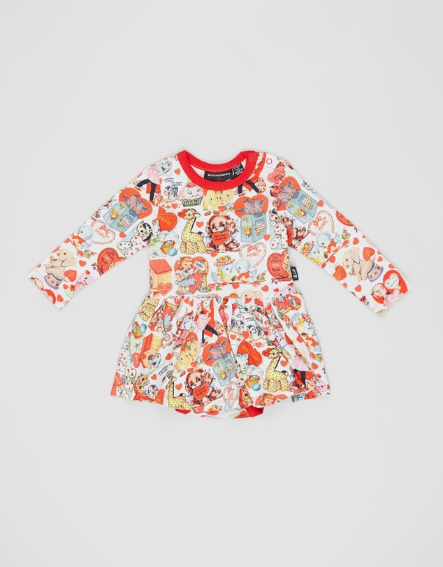 Rock Your Baby - My Funny Valentine LS Waisted Dress - Babies