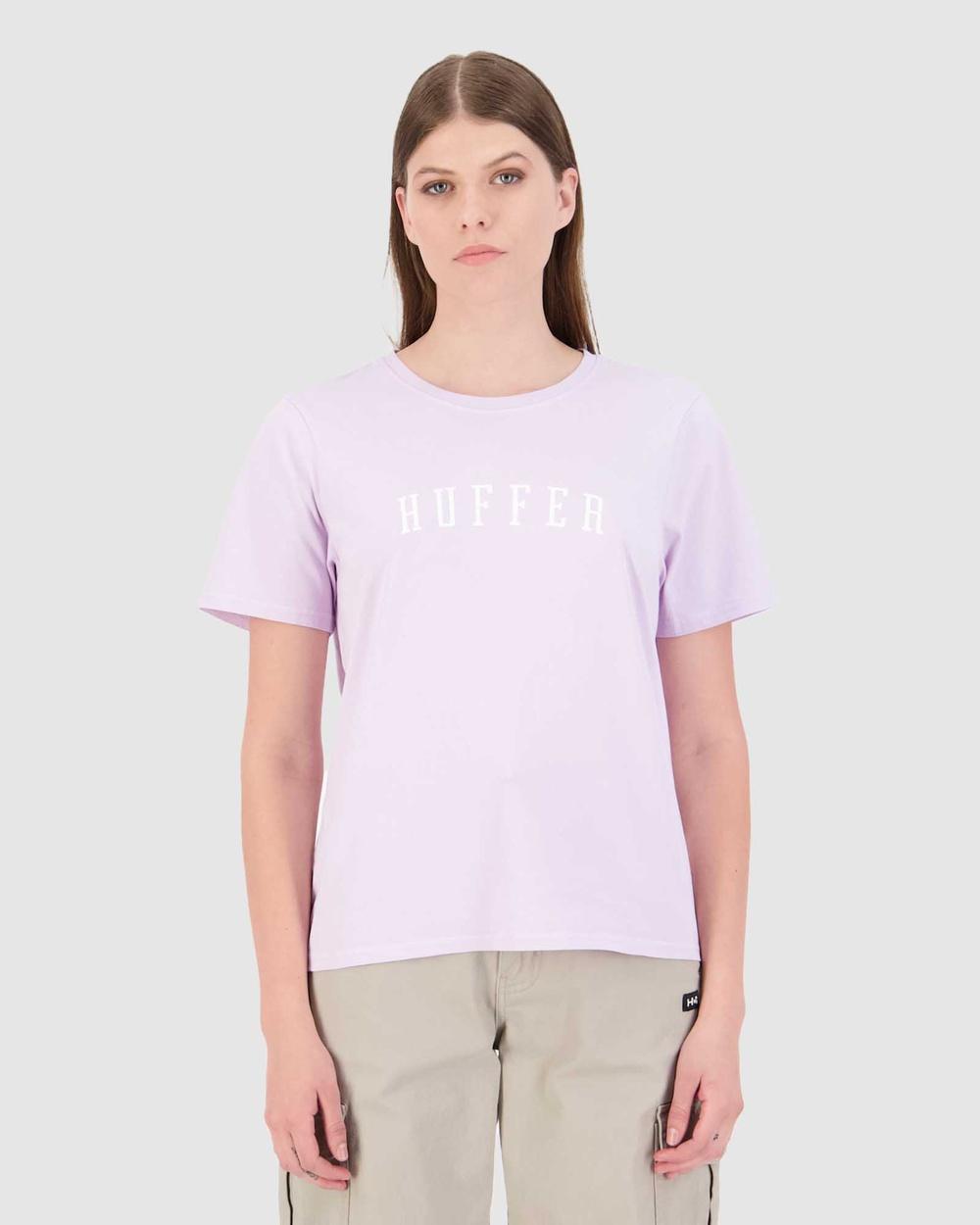Huffer Women's Stella Tee Stateside T-Shirts & Singlets Purple Tee-Stateside Australia