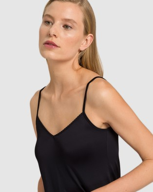 HANRO Satin Deluxe Body Dress - Sleepwear (Black)
