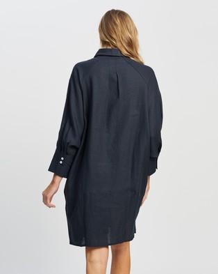 Andrea & Joen Evie Shirt Dress - Dresses (Navy)