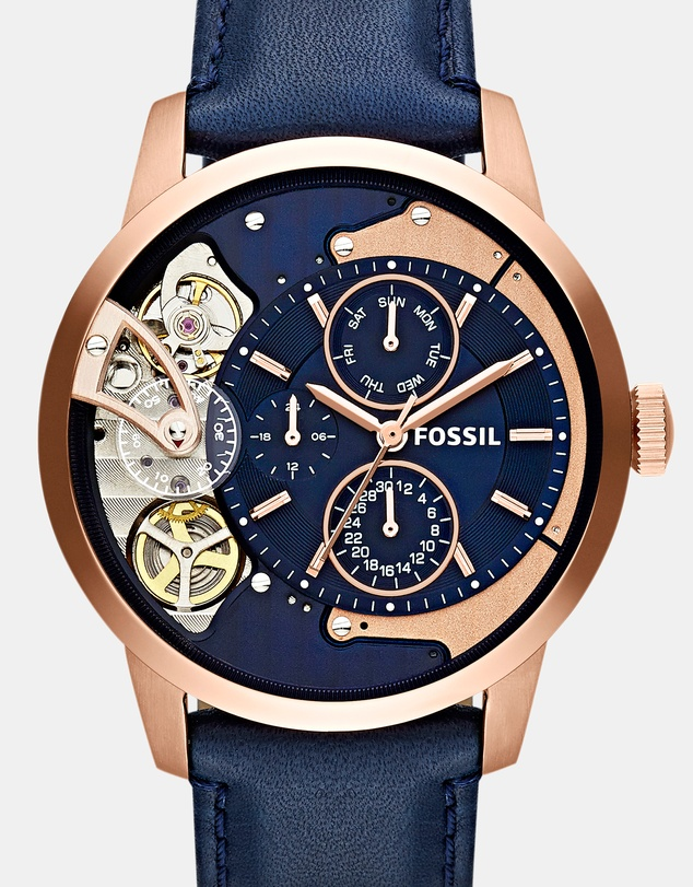 Fossil - Townsman Blue Mechanical Automatic Watch