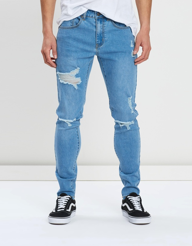 Staple Superior - Distressed Denim Jeans