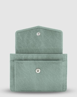 Cobb & Co Banksia Leather Card Holder - Wallets (sea)