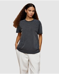 TOPSHOP - Premium Leisure Distressed T-Shirt