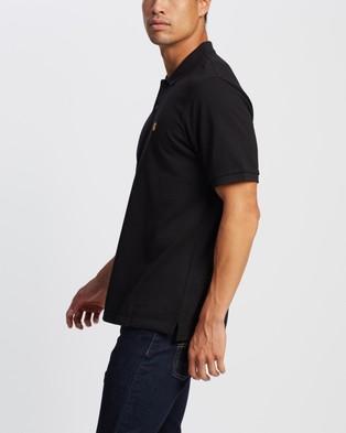 Carhartt SS Chase Pique Polo - Shirts & Polos (Black & Gold)