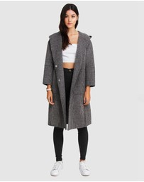 Belle & Bloom - Walk This Way Wool Blend Hooded Coat