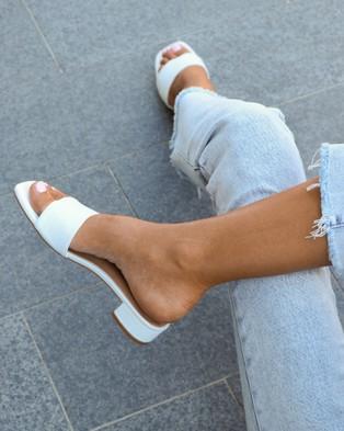 Covet Shoes - Cara Block Heels Mid-low heels (Off White)
