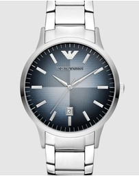 Emporio Armani - Silver-Tone Analogue Watch AR11182