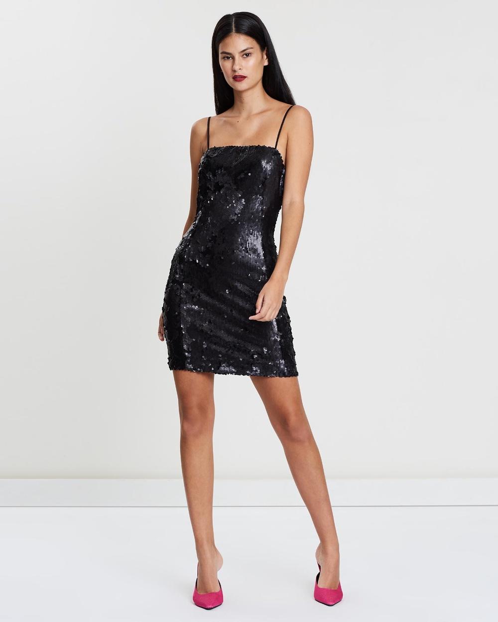 SANTINA-NICOLE - Sequin Mini Dress Dresses (Black)