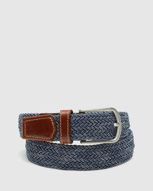 Oxford Ludo Mens Webbing Belt - Belts (Blue)