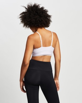 Nike Indy Luxe Light Support Sports Bra - Crop Tops (Violet Frost & Barely Grape)
