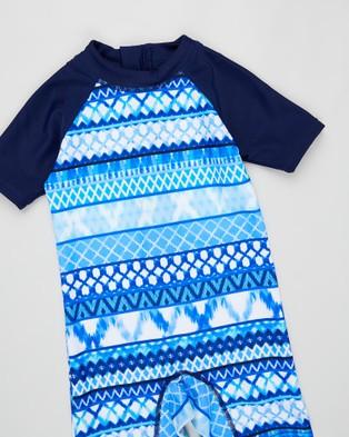 Aqua Blu Kids Riviera Zoot Suit   Babies - Rash Suits (Riviera)
