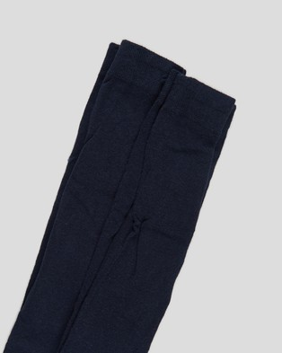 Cotton On Kids 2 Pack Solid Tights Socks & Solid Navy 2-Pack