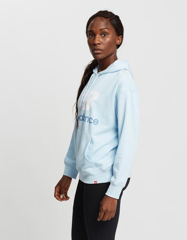 Women Essentials Stacked Logo Oversized Pullover Hoodie