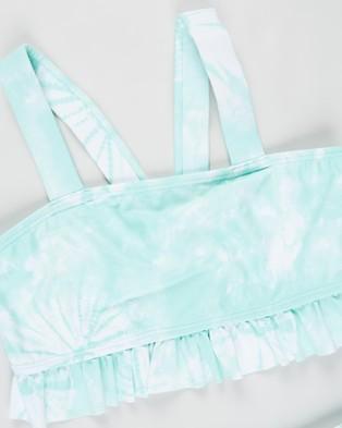 Cotton On Kids Polly Rib Ruffle Tankini Set   Kids - Bikini Set (Mint Breeze Tie Dye)