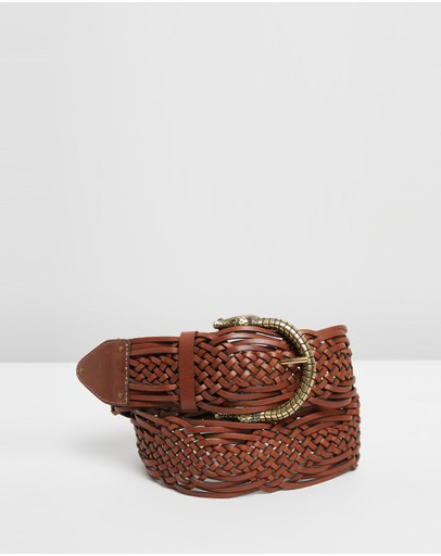 Camilla - Woven Leather Belt