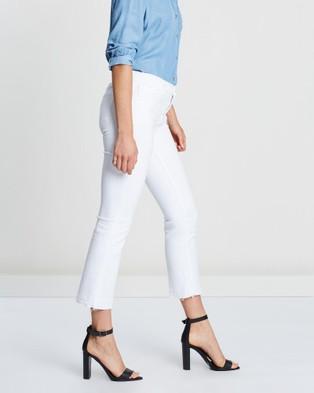 J Brand Selena Mid Rise Crop Boot Cut Jeans - Crop (White)
