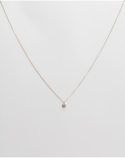By Charlotte - Lotus Flower 14k Gold Pendant Necklace