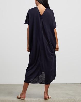Andrea & Joen Martine V Dress - Dresses (Navy)