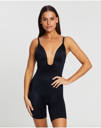 Spanx - Suit Your Fancy Plunge Low-Back Mid-Thigh Bodysuit