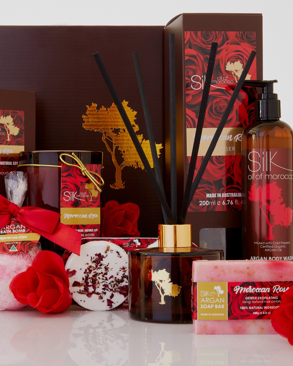Silk Oil of Morocco Luxe Day Spa Collection Hamper Moroccan Rose Moroccan Rose