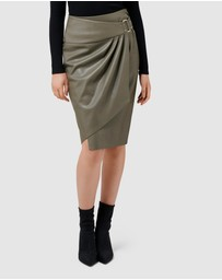 Forever New - Isla Wrap Pu Pencil Skirt