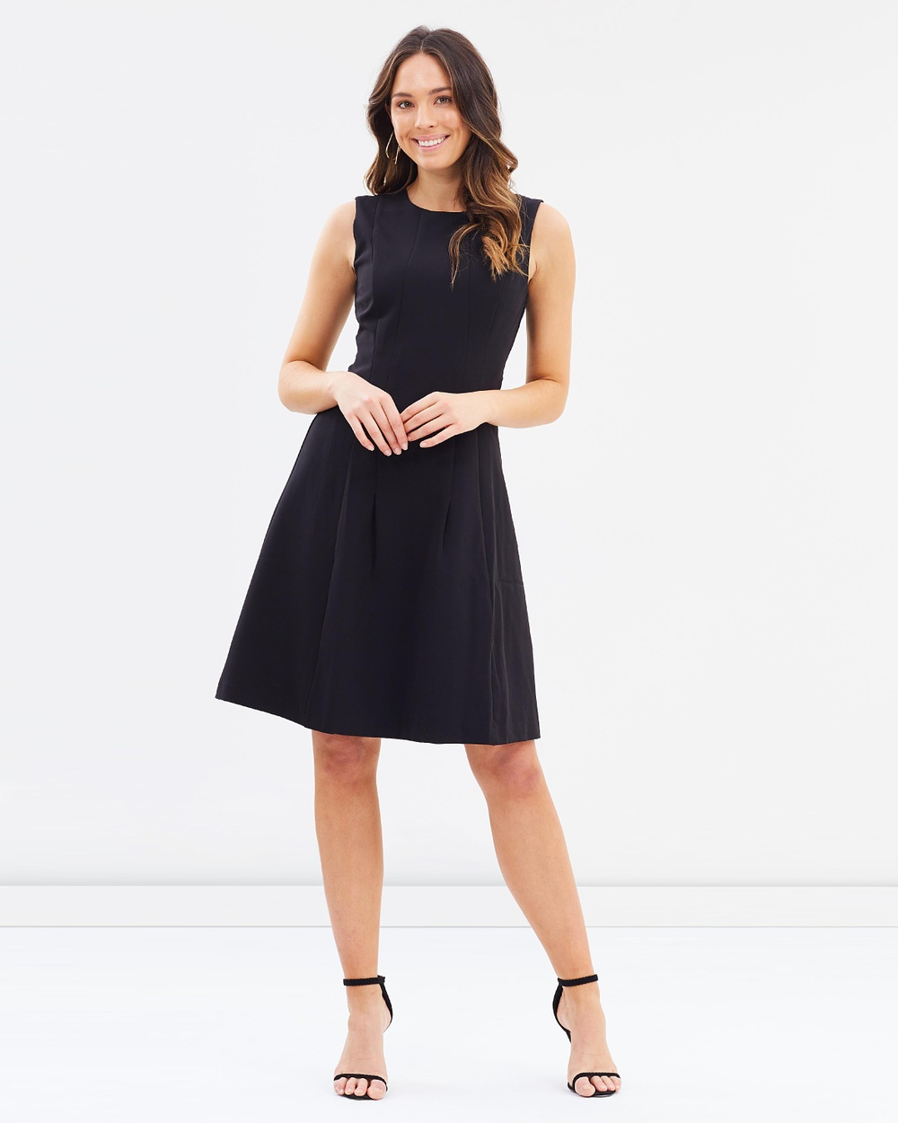 Forcast Leanna A Line Dress Dresses Black Leanna A-Line Dress