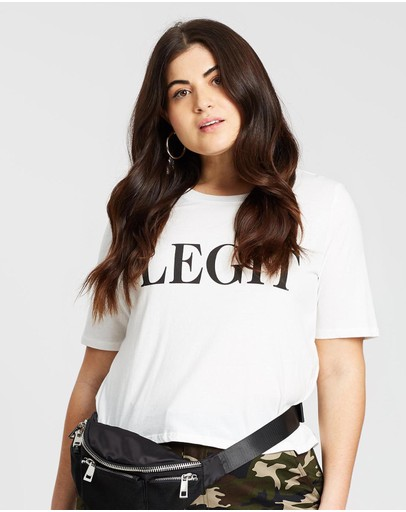 Mika Muse Legit Crop Tee White