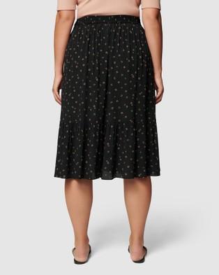 Forever New Curve Tatiana Curve Midi Skirt - Pleated skirts (Micro Spot Floral)