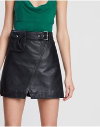 C/MEO COLLECTIVE - While Here Leather Skirt