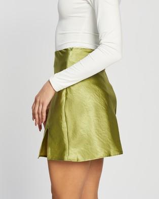 Dazie Love Lust Mini Skirt - Skirts (Green)