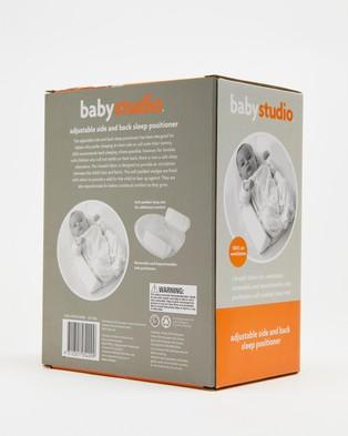 Baby Studio - Adjustable Side & Back Sleep Positioner Swaddles (White)