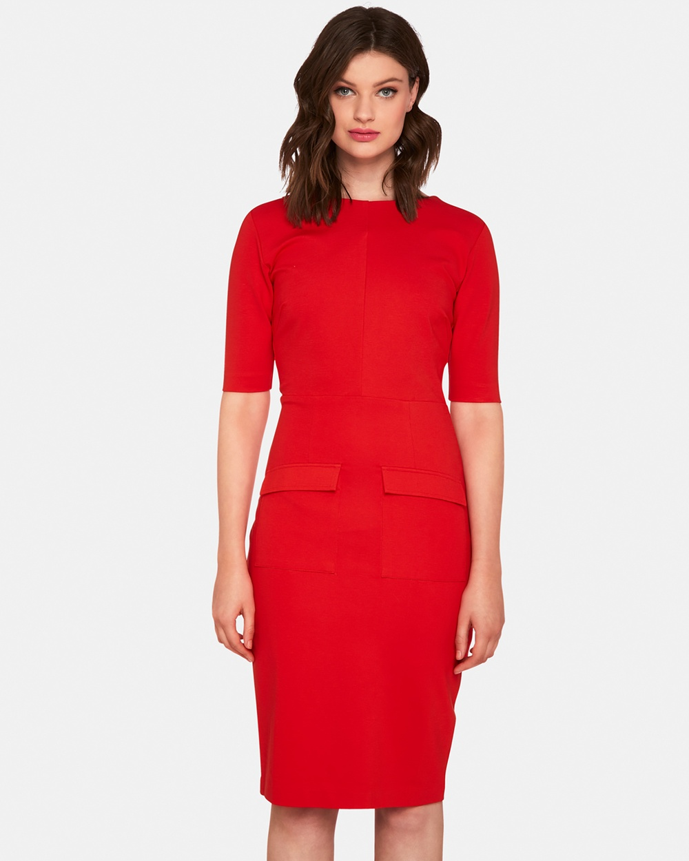 Oxford Red Giselle Ponti Dress