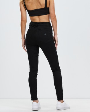 Abrand A High Skinny Ankle Basher Jeans - High-Waisted (Black Magic)