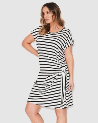 17 Sundays Basic Tie Side Dress - Dresses (Black/White )