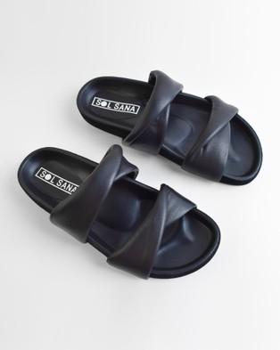 Sol Sana Nicole Slides Sandals Black