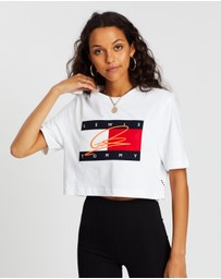 Tommy Hilfiger - Lewis Hamilton Cropped Signature Logo Tee