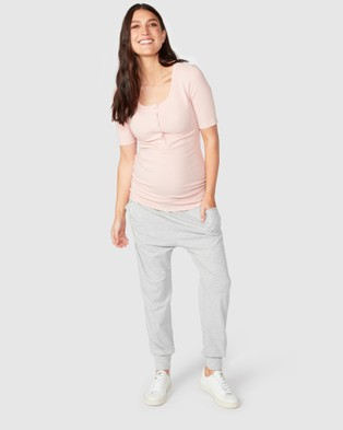 Pea in a Pod Maternity Jaya Slouch Pants - Sweatpants (Grey)